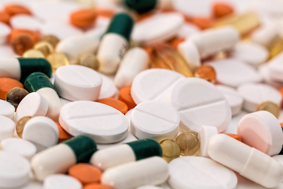 different types of pills and medicine