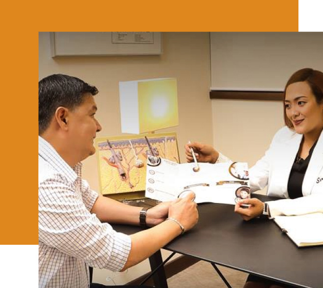Svenson doctor speaking with client